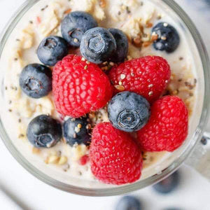 Overnight Oats with Berries - The Custom Plate formerly Mercer Island Paleo Kitchen
