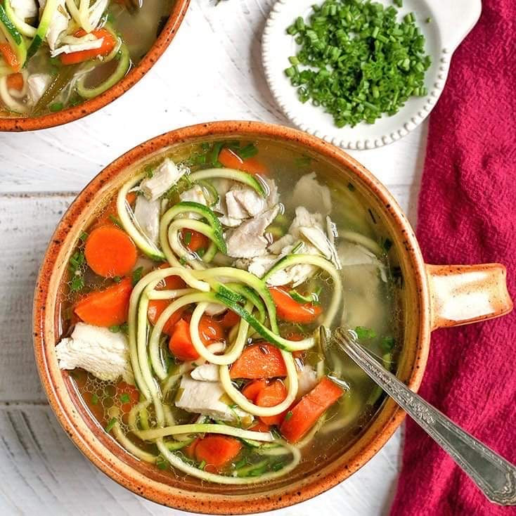 Lunch Monday, January 25 Chicken Zoodle Vegetable Soup