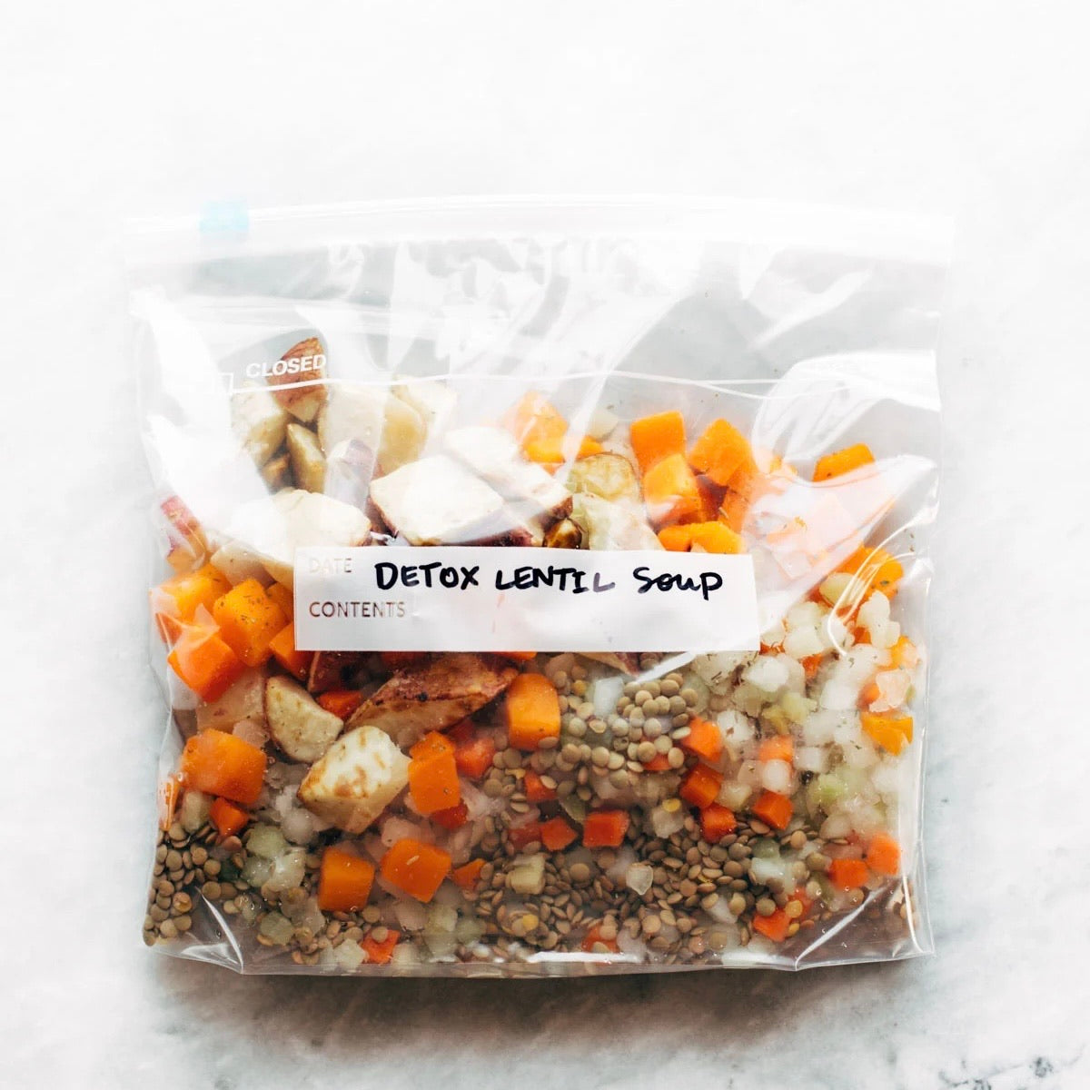 Freezer Meal - Lentil Detox Soup Serves 4-5