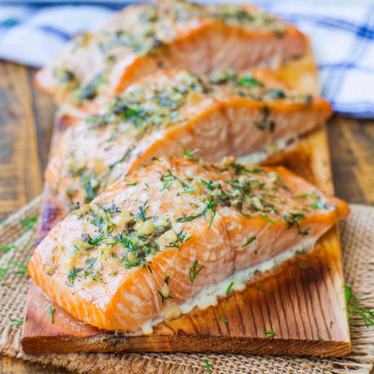 Herbed Cedar Planked Salmon