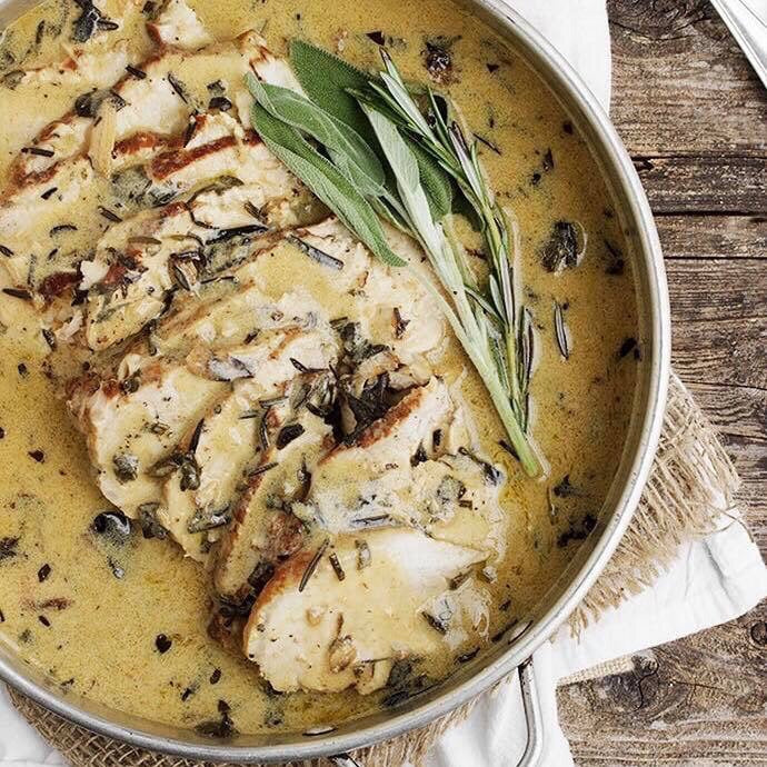 Wednesday Dinner - 8/28 Pork Loin with Wine and Herb Gravy