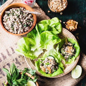 Monday Dinner - 7/22 Thai Turkey Larb (Paleo,GF,DF) - The Custom Plate formerly Mercer Island Paleo Kitchen