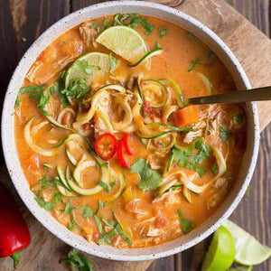 Lunch Sunday December 15  Thai Chicken Zoodle Soup