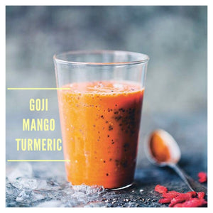 Goji Berry Mango Turmeric Smoothie - The Custom Plate formerly Mercer Island Paleo Kitchen