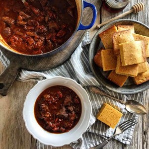 Dinner Saturday December 14  Texas Chili and Corn Bread