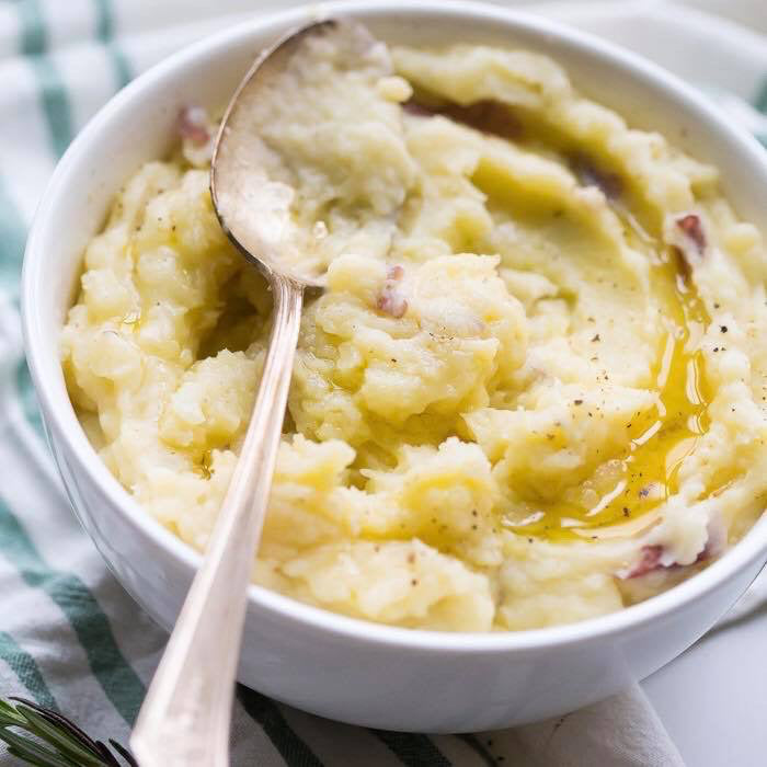 Garlic Herb Mashed Potatoes - The Custom Plate formerly Mercer Island Paleo Kitchen
