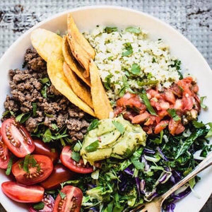Friday Dinner - 7/26 Taco Garden Bowl  (Paleo,GF,DF) - The Custom Plate formerly Mercer Island Paleo Kitchen