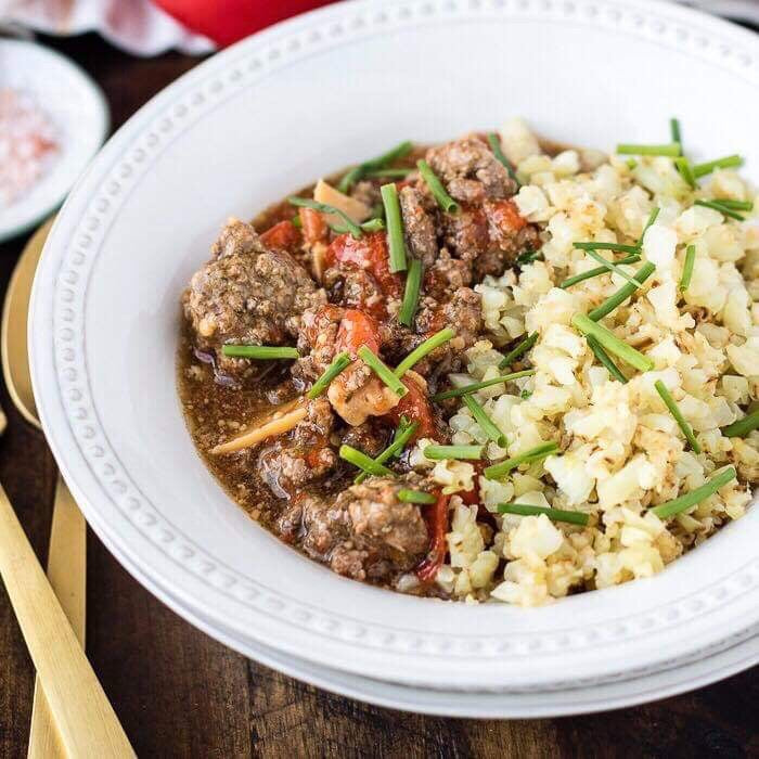 12/11 TUESDAY DINNER  INSTANT POT BEEF WITH PEPPERS - The Custom Plate formerly Mercer Island Paleo Kitchen