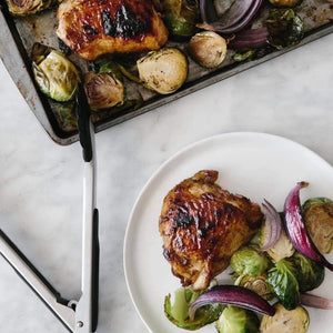 Dinner Wednesday, June 26 Roasted Balsamic Chicken with Brussels Sprouts - The Custom Plate formerly Mercer Island Paleo Kitchen