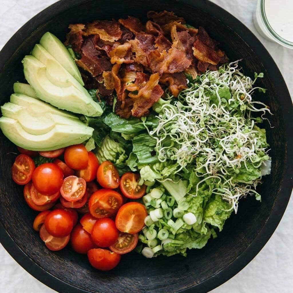 Lunch Thursday, November 21 BLT Salad with Avocado - The Custom Plate formerly Mercer Island Paleo Kitchen