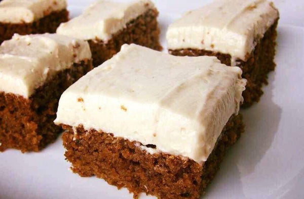 GINGERBREAD BARS WITH COCONUT CREAM FROSTING