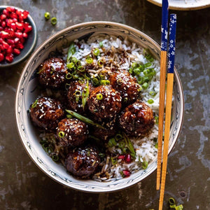 Dinner for Monday December 16  Ginger Sesame Beef Meatballs with Cauliflower Rice