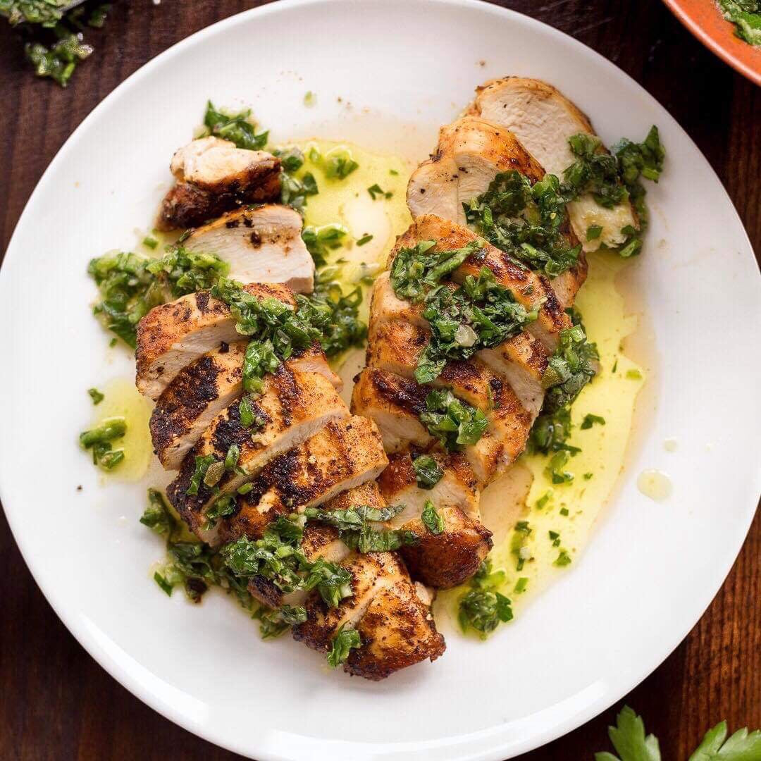 Dinner Monday, May 20 Roasted chicken with salsa verde - The Custom Plate formerly Mercer Island Paleo Kitchen