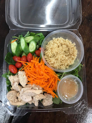 Chicken and quinoa salad $16 - The Custom Plate formerly Mercer Island Paleo Kitchen