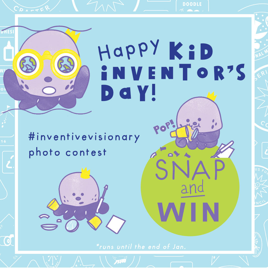 Happy Kid Inventor's Day: Snap and Win Oli's Boxship