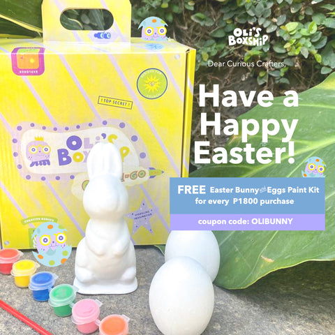 Easter Bunny & Eggs Paint Kit