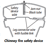 top lock chimney damper safety device