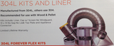 Forever Flex 304L Chimney Liner Appliance Connector Kit - Chimney Liner
