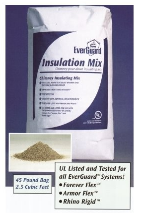 EverGuard Pour Down Chimney Insulation Mix - Chimney Liner