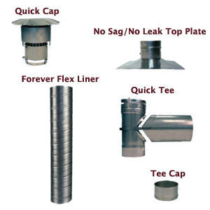 Forever Flex 316Ti Chimney Liner Tee Kit - Chimney Liner