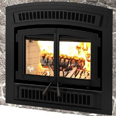 HE200 Zero Clearance Wood Fireplace w/ Double Retractable Doors How many certified fireplaces compare to our HE200? Read on and you will discover that very few zero-clearance wood fireplaces can match the exceptional features of our HE200: an overnight bu