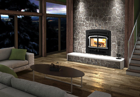 Ventis HE200 Zero Clearance Wood Fireplace Cheap Chimney