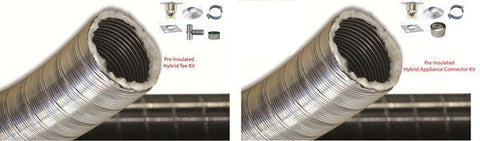 Pre-Insulated Hybrid Stainless Chimney Liner Kit