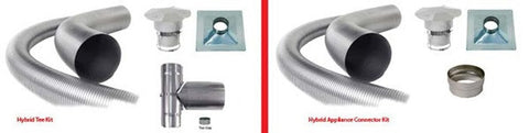 Forever Flex 304L Hybrid Smooth Wall Chimney Liner Appliance Connector Kit - Chimney Liner