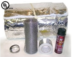 "Super Wrap 1/4"" Insulation (3mil foil face) - Chimney Liner"