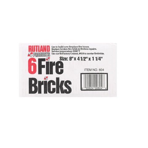 Rutland® Replacement Fire Brick - Chimney Liner