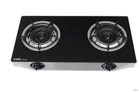 Crown LPG Double-burners Tempered Glass Hob