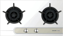 Sakura LPG Tempered Glass Double Burner Hobs