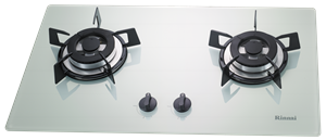 Rinnai LPG Glass Top Two Burners Built-in Hob