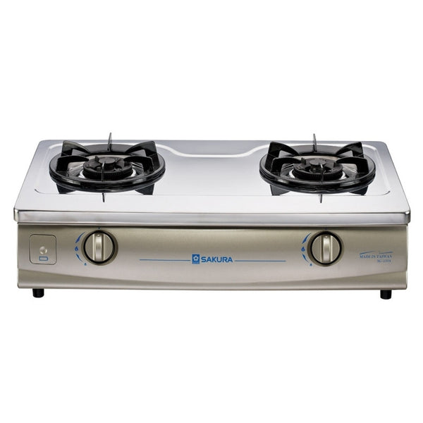 Sakura Town Gas Double Burners Table Top Gas Cooker