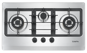 Simpa Town Gas Three Burners Built-in Hob