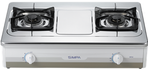 Simpa Town Gas Double Burner Hotplate