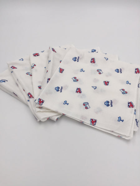 Baby Pure Cotton Handkerchief - 5 pcs