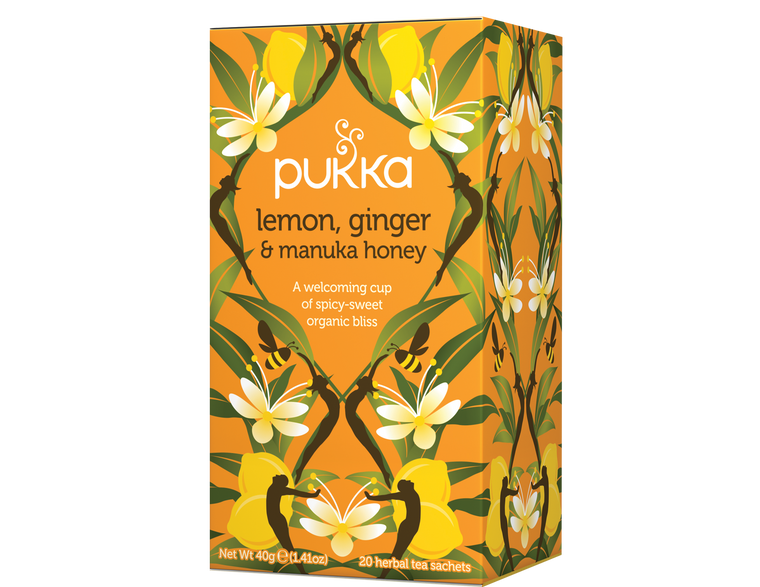 Organic Lemon, Ginger & Manuka Honey Tea