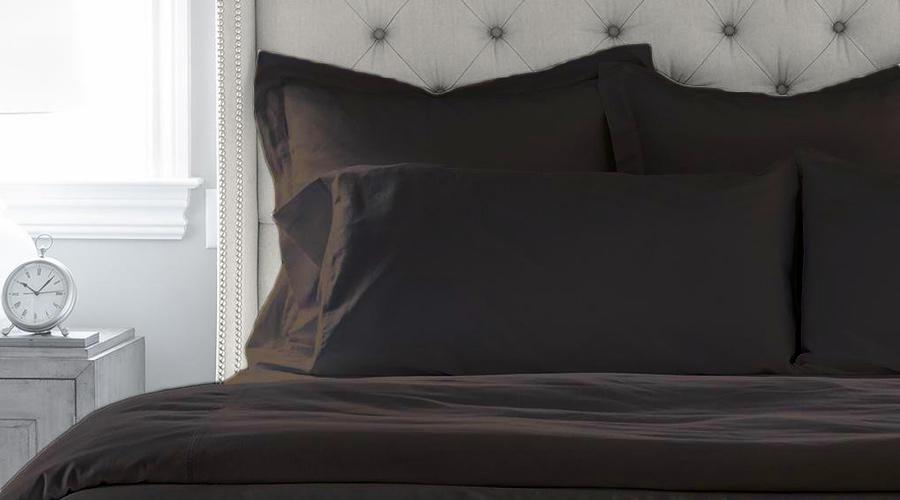 Black King Size luxury quilt cover & pillowcases