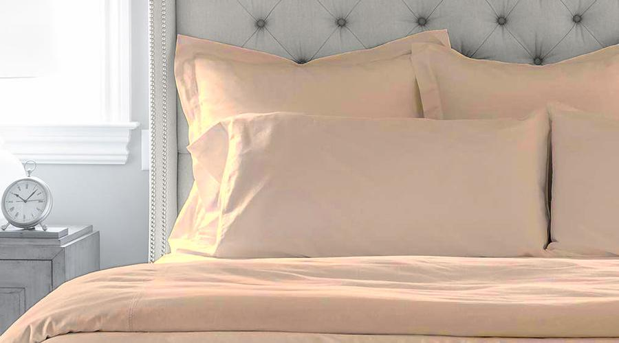 Latte Double Size luxury quilt cover & pillowcases