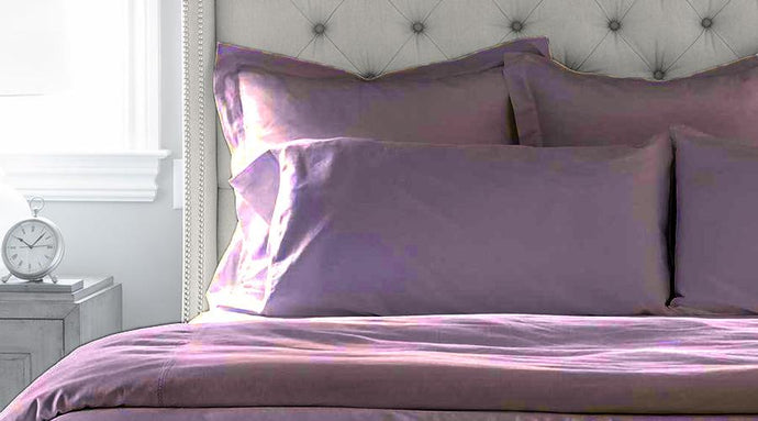 Dusk Purple King Size luxury quilt cover & pillowcases