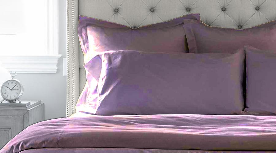 Dusk Purple Single Size luxury sheet set, quilt cover & pillowcases