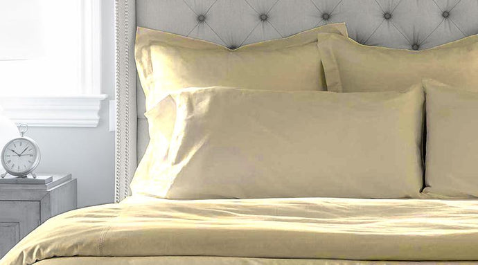 Ivory Queen Size luxury quilt cover & pillowcases