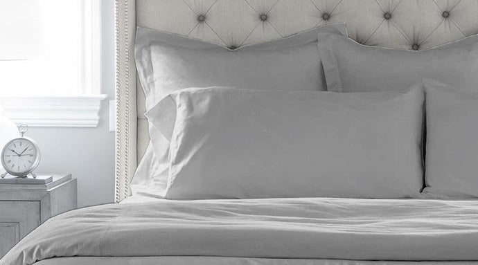 Light Grey Single Size luxury quilt cover & pillowcases
