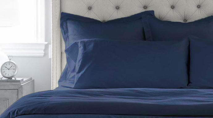 Navy Blue Single Size luxury quilt cover & pillowcases