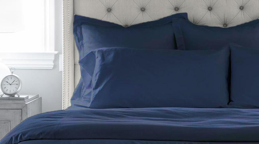 Navy Blue Single Size luxury sheet set, quilt cover & pillowcases