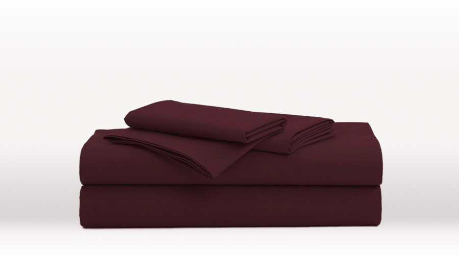 Burgundy Double Size Luxury egyptian cotton sheet Set