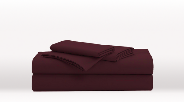 Burgundy Single Size Luxury Sheet Set