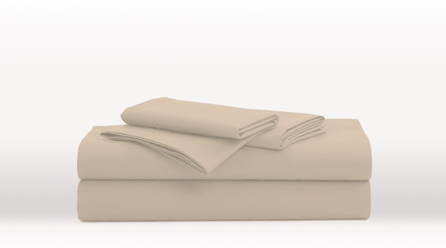 Cream Single Size Luxury egyptian cotton sheet Set