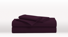 Dark Purple Single Size Luxury Sheet Set